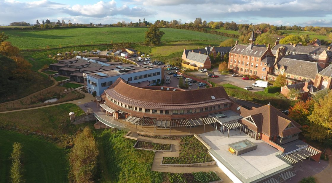 Drone shot of Hospice